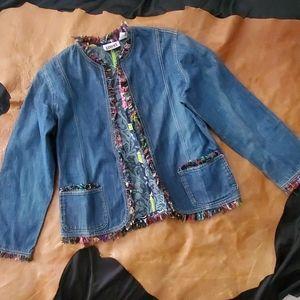 Chico's Fringed Denim Jacket